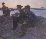Carl Wilhelmson On the Rocks at Fiskebackskil (nn02 oil painting artist