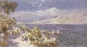 Charles rowbotham Lake como with Bellagio in the Distance (mk37) oil painting picture wholesale