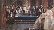 Edward Matthew Ward The Investiture of Napoleon III with the Order of the Garter 18 April 1855 (mk25) oil painting picture wholesale