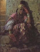 Etienne Dinet Une Ouled Nail (mk32) oil painting artist