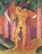 Franz Marc Woodcutter (mk34) oil painting picture wholesale