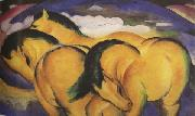 Franz Marc The Little Yellow Horses (mk34) oil painting picture wholesale