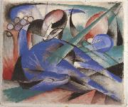 Franz Marc Horse Asleep (mk34) oil painting picture wholesale