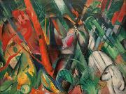 Franz Marc Rain (mk34) oil painting reproduction