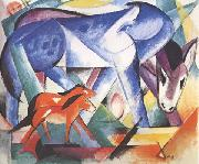 Franz Marc The First Animals (mk34) oil painting picture wholesale