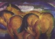 Franz Marc Little Yellow Horses (nn03) oil painting picture wholesale