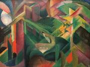 Franz Marc Deer in a Monastery Garden (mk34) oil painting picture wholesale
