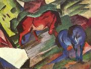 Franz Marc Red and Blue Horse (mk34) oil painting picture wholesale