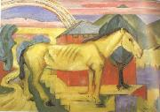Franz Marc Long Yellow Horse (mk34) oil painting picture wholesale