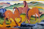 Franz Marc Grazing Horses iv (mk34) oil painting picture wholesale