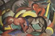 Franz Marc Three Horses (mk34) oil painting picture wholesale