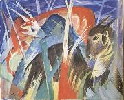 Franz Marc Fairy Animals i (mk34) oil painting reproduction