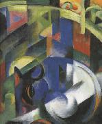 Franz Marc Details of Painting with Cattle (mk34) oil painting picture wholesale