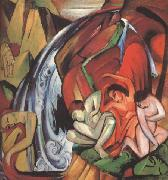 Franz Marc The Waterfall (mk34) oil painting picture wholesale