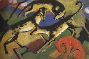 Franz Marc Playing Dogs (mk34) oil painting picture wholesale