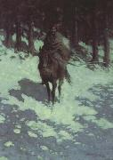 Frederic Remington Figure of the Night (mk43) oil painting picture wholesale