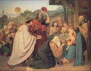 Friedrich Johann Overbeck The Adoration of the Magi (nn03) oil painting picture wholesale
