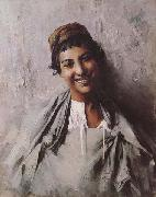 Georges Gaste Jeune fille souriant (mk32) oil painting artist