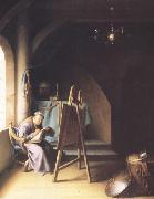 Gerrit Dou A Man writing in an Artist's Studio (mk33) oil painting picture wholesale