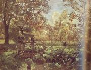 Jakob Emil Schindler Peasant Garden at Goisern (nn02) oil painting picture wholesale