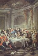 Jean-Francois De Troy The Oyster Lunch (nn03) oil painting picture wholesale