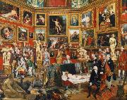 Johann Zoffany The Tribuna of the Uffizi (mk25) oil painting picture wholesale