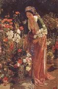 John Frederick Lewis In the Bey's Garden Asia Minor (mk32) oil painting artist
