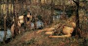 John William Waterhouse A Naiad (mk41) oil painting picture wholesale