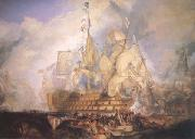 Joseph Mallord William Turner The Battle of Trafalgar (mk25) oil