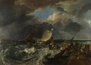 Joseph Mallord William Turner Calais Pier,with French poissards preparing for sea:an English packet arriving (detail) (mk31) oil painting reproduction