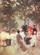 Konstantin Korovin Paris Cafe (nn02) oil painting picture wholesale