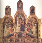 Lorenzo Monaco The Coronation of the Virgin (nn03) oil painting picture wholesale