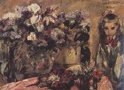 Lovis Corinth Wilhelmine with Flowers (nn02) oil painting picture wholesale
