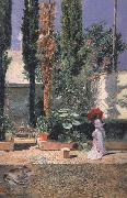 Marsal, Mariano Fortuny y Garden of Fortuny's House (nn02) oil painting picture wholesale