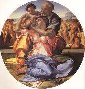 Michelangelo Buonarroti The Doni Tondo (nn03) oil painting picture wholesale