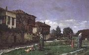 Osman Hamdy Bey Paysage a Gezbe (mk32) oil painting artist