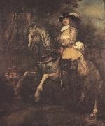 REMBRANDT Harmenszoon van Rijn portrait of Frederick Ribel on horseback (mk33) oil painting picture wholesale