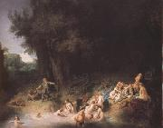 REMBRANDT Harmenszoon van Rijn Diana bathing with her Nymphs,with the Stories of Actaeon and Callisto (mk33) oil painting picture wholesale