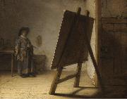 REMBRANDT Harmenszoon van Rijn The Artist in his studion (mk33) oil painting picture wholesale