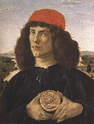 Sandro Botticelli Portrait of a Youth with a Medal (mk36) oil painting picture wholesale