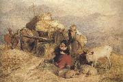 Sir edwin henry landseer,R.A. Sketch for Harvest in the Highlands (mk37) oil painting artist