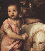 Titian The Child with the dogs (mk33) oil painting picture wholesale