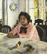 Valentin Aleksandrovich Serov Girl with Peaches (nn02) Spain oil painting artist