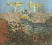 Vincent Van Gogh The Langlois Bridge at Arles (nn04 oil painting picture wholesale