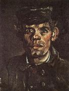 Vincent Van Gogh Head of a Young Peasant in a Peaken Cap (nn04) oil painting picture wholesale