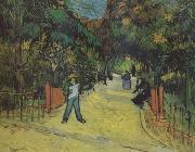 Vincent Van Gogh Entrance to thte Public Park in Arles (nn04) oil painting picture wholesale