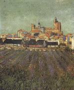 Vincent Van Gogh View of Saintes-Maries (nn04) oil painting picture wholesale