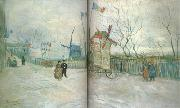 Vincent Van Gogh Street Seene in Montmartre:Le Moulin a Poivre (nn04) oil painting picture wholesale
