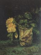 Vincent Van Gogh Glass with  Roses (nn04) Spain oil painting artist