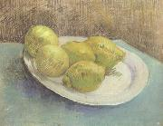 Vincent Van Gogh Still life with Lemons on a Plate (nn04) oil painting picture wholesale